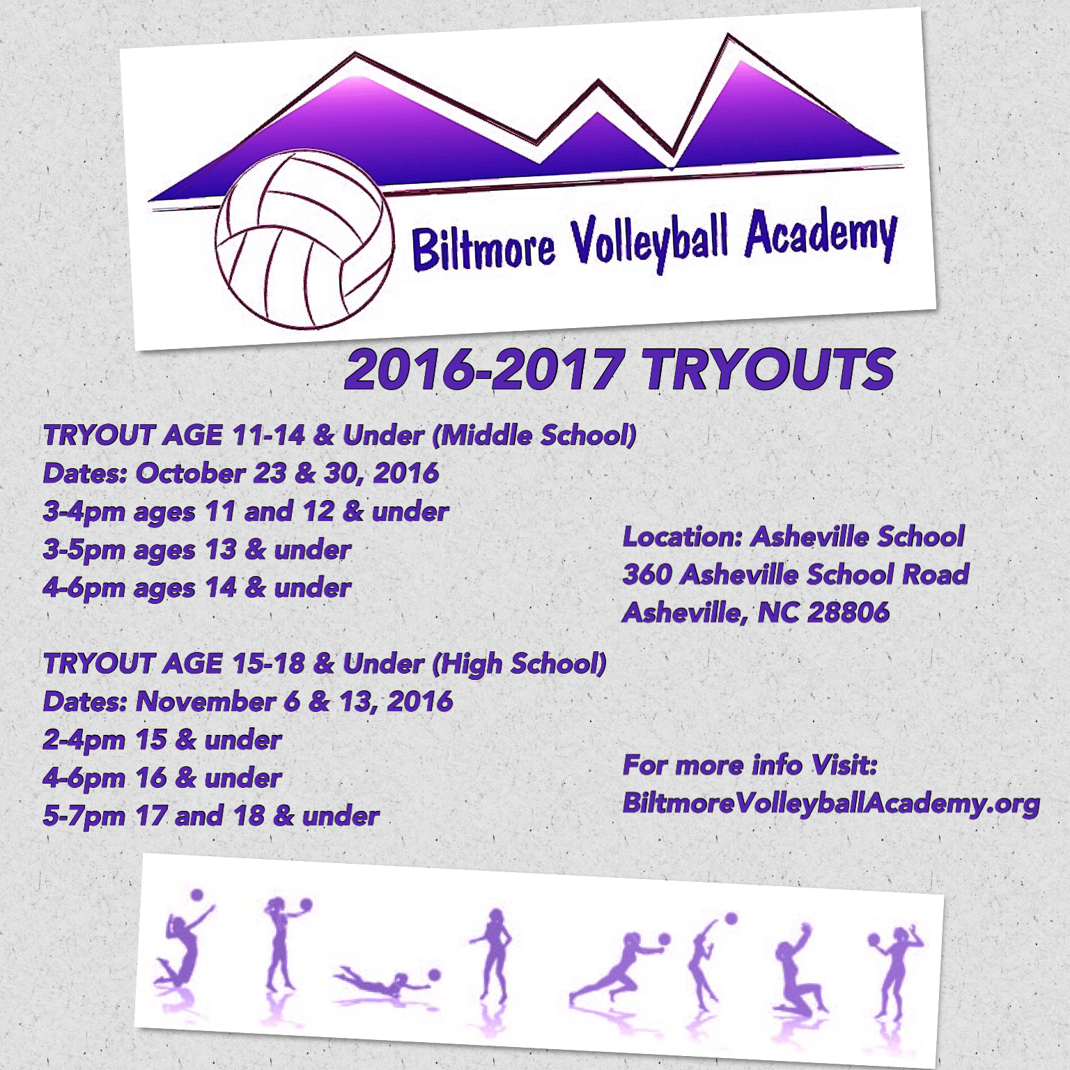 2016-2017 Tryouts